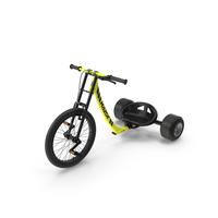 Razor DXT Drift Trike Yellow PNG & PSD Images