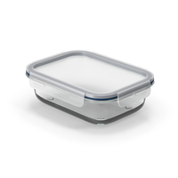 Rectangular Glass Clip Lock Food Container 1000ml PNG & PSD Images