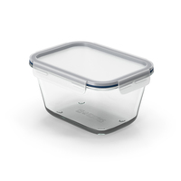 Rectangular Glass Clip Lock Food Container 1800ml PNG & PSD Images