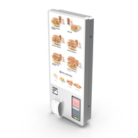 Restaurant Self Ordering Kiosk Wall Mounted PNG & PSD Images