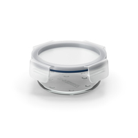Round Glass Clip Lock Storage Container 400ml PNG & PSD Images