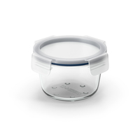 Round Glass Clip Lock Storage Container 600ml PNG & PSD Images