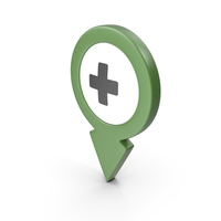 Location Sign Hospital Green PNG & PSD Images
