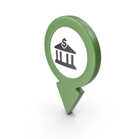 Location Sign Bank Green PNG & PSD Images