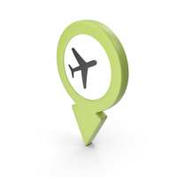 Location Sign Airport Green PNG & PSD Images