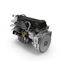Semi Truck Turbo Diesel Engine PNG & PSD Images