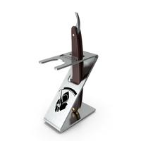 Shaving Folding Razor with Holder PNG & PSD Images