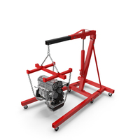 Shop Crane with Engine PNG & PSD Images