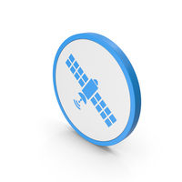 Icon Satellite Blue PNG & PSD Images