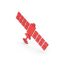 Symbol Satellite Red PNG & PSD Images