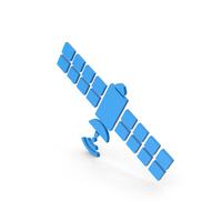 Symbol Satellite Blue PNG & PSD Images