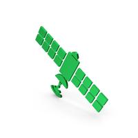 Symbol Satellite Green Metallic PNG & PSD Images