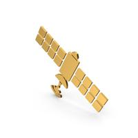 Symbol Satellite Gold PNG & PSD Images