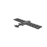 Black Symbol Satellite PNG & PSD Images