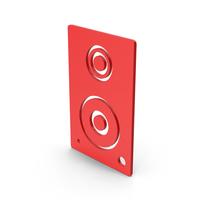 Symbol Speaker Red PNG & PSD Images