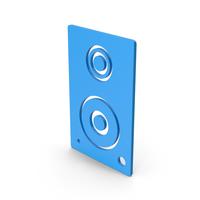 Symbol Speaker Blue PNG & PSD Images