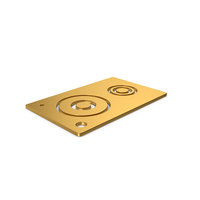 Gold Symbol Speaker PNG & PSD Images