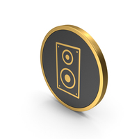 Gold Icon Speaker PNG & PSD Images