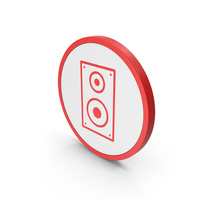 Icon Speaker Red PNG & PSD Images