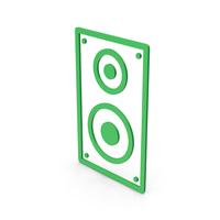 Symbol Speaker Green PNG & PSD Images