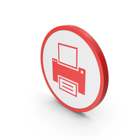 Icon Printer Red PNG & PSD Images