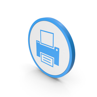 Icon Printer Blue PNG & PSD Images