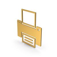 Symbol Printer Gold PNG & PSD Images