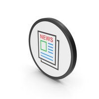 Icon Newspaper Colored PNG & PSD Images