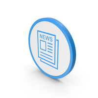 Icon Newspaper Blue PNG & PSD Images