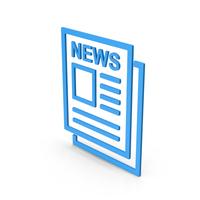 Symbol Newspaper Blue PNG & PSD Images