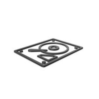 Black Symbol HDD PNG & PSD Images