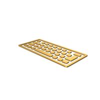 Gold Symbol Keyboard PNG & PSD Images