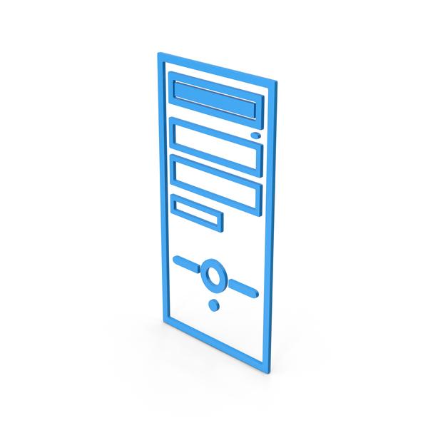 Symbol Computer Case Blue PNG & PSD Images