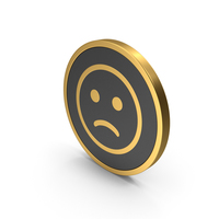 Gold Icon Emoji Frowning Face PNG & PSD Images