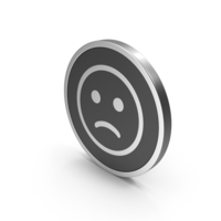 Silver Icon Emoji Frowning Face PNG & PSD Images