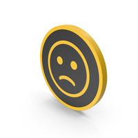 Icon Emoji Frowning Face Yellow PNG & PSD Images