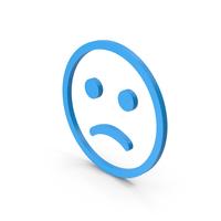 Symbol Emoji Frowning Face Blue PNG & PSD Images