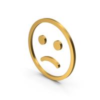 Symbol Emoji Frowning Face Gold PNG & PSD Images