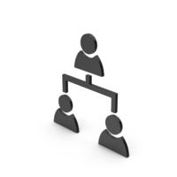 Symbol People Connection Black PNG & PSD Images