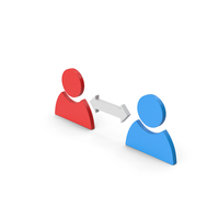 Symbol People Connect Colored PNG & PSD Images
