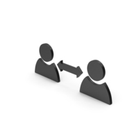 Symbol People Connect Black PNG & PSD Images
