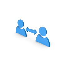 Symbol People Connect Blue PNG & PSD Images