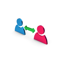 People Connect Colored Metallic PNG & PSD Images