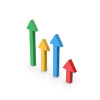 Symbol Arrows Graph PNG & PSD Images