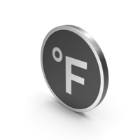 Silver Icon Fahrenheit Degrees PNG & PSD Images