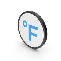 Icon Fahrenheit Degrees Blue PNG & PSD Images