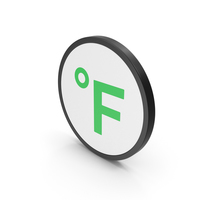 Icon Fahrenheit Degrees Green PNG & PSD Images