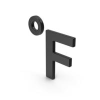 Symbol Fahrenheit Degrees Black PNG & PSD Images
