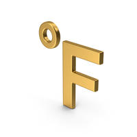 Symbol Fahrenheit Degrees Gold PNG & PSD Images