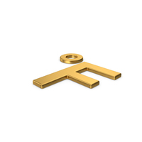 Gold Symbol Fahrenheit Degrees PNG & PSD Images